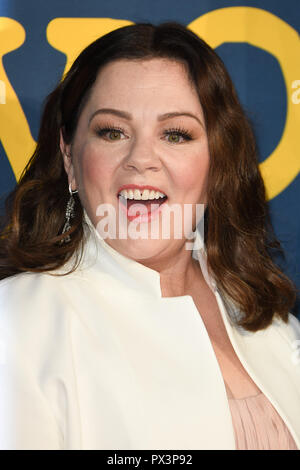 LONDON, UK. October 19, 2018: Melissa McCarthy at the London Film Festival screening of 'Can You Ever Forgive Me' at the Cineworld Leicester Square, London. Picture: Steve Vas/Featureflash Credit: Paul Smith/Alamy Live News - Stock Photo