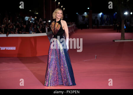 Rome, Italy, 19 October 2018 : Rome Film festival 2018, Cate Blanchett at the red carpet of the movie 'The House With A Clock In Its Walls'    Photo © Fabio Mazzarella/Sintesi/Alamy Live News - Stock Photo