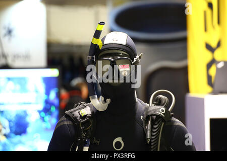 Nadarzyn, Poland, 19th October 2018: Diving promotion stand at World Travel Show. ©Jake Ratz/Alamy Live News - Stock Photo