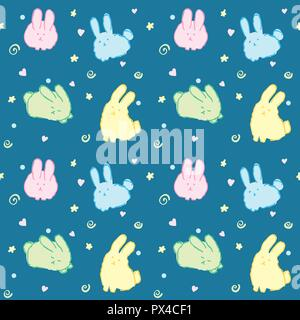 Image of: Android Fluffy Bunnies Wallpaper Seamless Pattern Cute Rabbits Kawaii Good Night Animals On Blue Stock Photo Alamy Fluffy Bunnies Wallpaper Seamless Pattern Cute Rabbits Kawaii