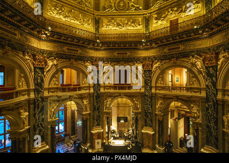 Interior Kunsthistorisches Museum (English: 'Museum of Art History') is an art museum in Vienna, Austria. It is the largest art museum in Austria. - Stock Photo