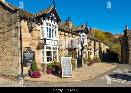 The Old Nags Head pub / public house in Edale Village, Peak District National Park, Derbyshire, UK