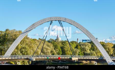 Freedom bridge Tartu, Estonia - Stock Photo