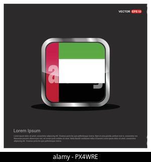 UAE flag design vector - Stock Photo