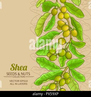 shea vector pattern on color background - Stock Photo