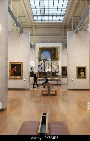 Fine Art museum, Lyon, France. - Stock Photo