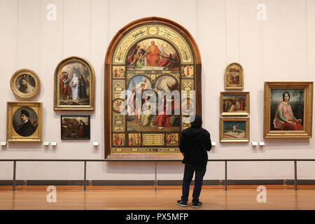 MusŽe des Beaux-Arts, Lyon, France. Fine Art museum, Lyon, France. - Stock Photo