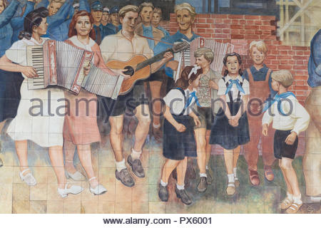 sound of music mosaic Berlin Germany - Stock Photo