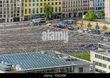 Holocaust-Memorial in Berlin, Germany | Holocaust-Mahnmal in Berlin, Deutschland - Stock Photo