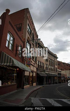 Bisbee Arizona, USA. Downtown business district. - Stock Photo