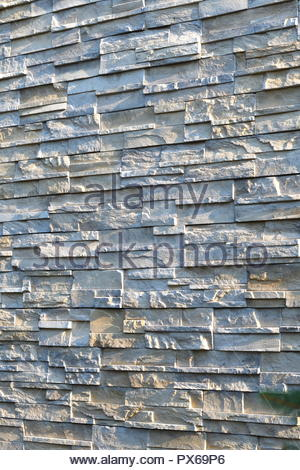 Natural stone wall cladding texture background - Stock Photo