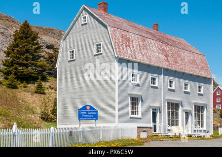 The Ryan Building in Trinity is an example of an early 1800s counting house & typical Newfoundland outport general store of the 1910 period. - Stock Photo