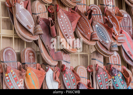 traditional shoe of Arab cloth - Stock Photo