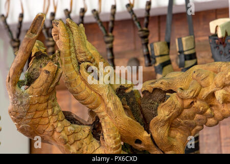 wooden material handcrafted in Saudi Arabia - Stock Photo