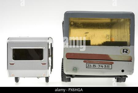 Autobus, camp, toy, Romania - Stock Photo