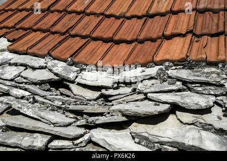 Primosten, roof, Croatia, Dalmatia - Stock Photo