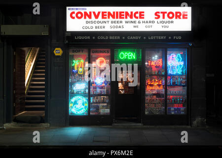 The Convenience Store bar located on High Street in the Northern Quarter area of Manchester city centre, UK. - Stock Photo