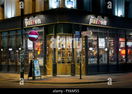 The Patron bar located on the corner of Oldham Street and Hilton Street in the Northern Quarter area of Manchester city centre, UK. - Stock Photo