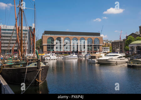 St Katharine Docks, London, England, UK - Stock Photo