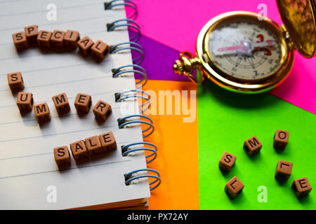 Special summer sale message written on wooden blocks. Vacation and travel concepts. Cross processed image - Stock Photo