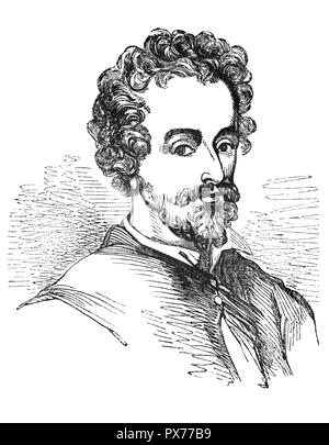 John Fletcher (1579–1625) was a Jacobean playwright. Following William Shakespeare as house playwright for the King's Men, he was among the most prolific and influential dramatists of his day; during his lifetime and in the early Restoration, his fame rivalled Shakespeare's. Though his reputation has been far eclipsed since, Fletcher remains an important transitional figure between the Elizabethan popular tradition and the popular drama of the Restoration. - Stock Photo