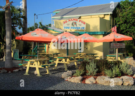 Though off the beaten path, the famous No Name Pub on No Name Key is one of the more popular of the numerous eateries that are in the Florida Keys - Stock Photo