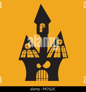 Halloween Icon: The Haunted House - Stock Photo