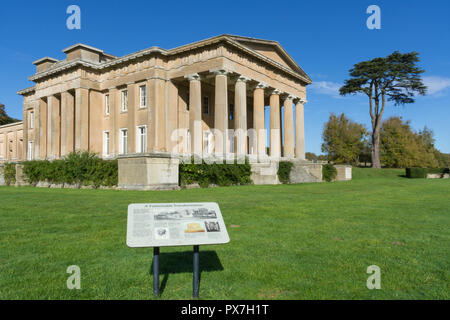 The Grange at Northington in Hampshire, UK, an impressive mansion and the foremost example in England of Greek Revival architecture - Stock Photo