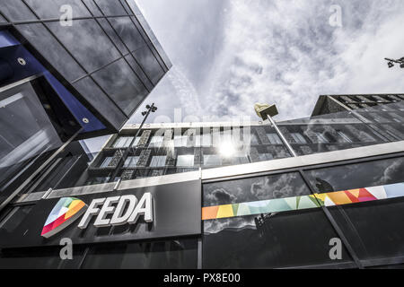 FEDA, Consell General, Andorra la Vella, capital city of Andorra, Andorra - Stock Photo