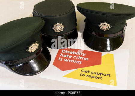 Lurgan, Northern Ireland. 19/10/2018 - Leonard Cheshire Disability hold an education session during Hate Crime Awareness Week. - Stock Photo