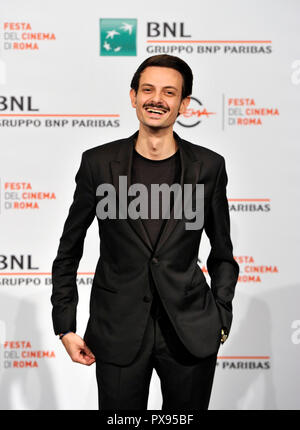Rome, Italy. 18th Oct, 2018. Roma Cinema Fest 2018 Rome Film Festival. Photocall Meeting with the public. Pictured: Fabio Rovazzi Credit: Independent Photo Agency/Alamy Live News - Stock Photo