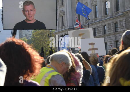 London, UK, 20th October, 2018. The People's Vote March . Credit: Martin Kelly/Alamy Live News. - Stock Photo