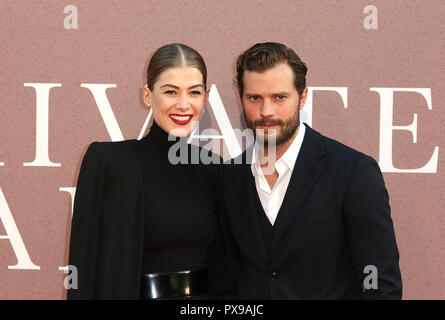 Rosamund Pike, Jamie Dornan, A Private War - European Premiere, BFI London Film Festival, Leicester Square, London, UK, 20 October 2018, Photo by Richard Goldschmidt - Stock Photo