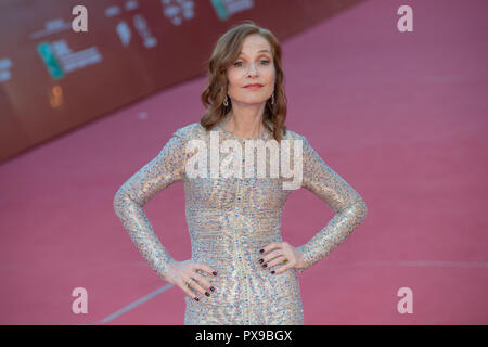 Rome, Italy. 20th Oct, 2018. Isabelle Huppert attending the red carpet during the 13th Rome Film Fest Credit: Silvia Gerbino/Alamy Live News - Stock Photo