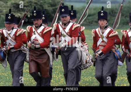 Napoleonic British Redcoats (Reenactor) - Stock Photo