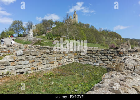 VELIKO TARNOVO, BULGARIA - 9 APRIL 2017: Ruins of medieval Fortress Tsarevets, Veliko Tarnovo, Bulgaria - Stock Photo