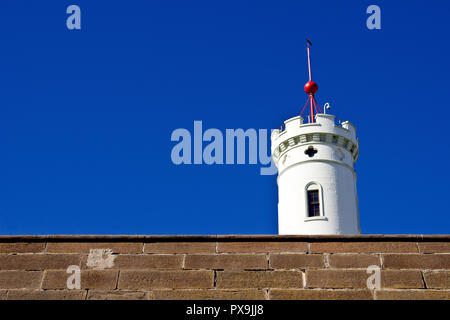 The Signal Tower in Arbroath, Scotland, UK. Once home to the lighthouse keepers of the Bell Rock Lighthouse, it's now the town's museum. - Stock Photo
