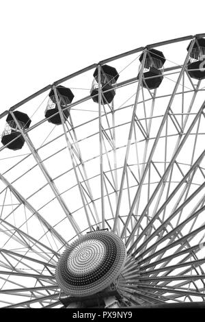The Giant Ferris Wheel on the Jolly Roger at the Pier Amusements, Ocean City, New Jersey, USA - Stock Photo