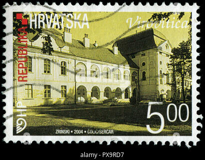 Postmarked stamp from Croatia in the  Croatian Towns (III) series issued in 2004 - Stock Photo