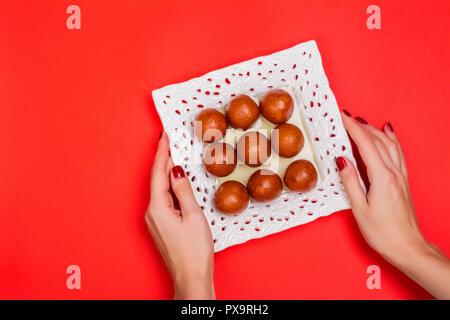 Gulab jamun - indian sweet dish - Stock Photo