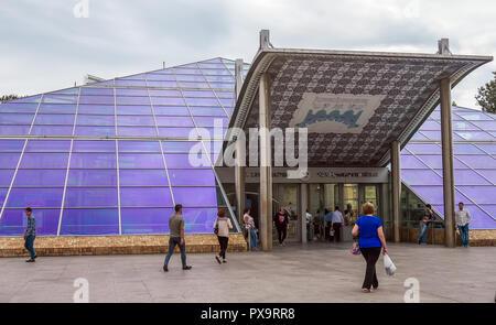 Baku, Azerbaijan, May 03, 2018. Icheri Sheher metro station - Stock Photo