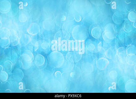 Blue abstract background with bokeh circles - Stock Photo