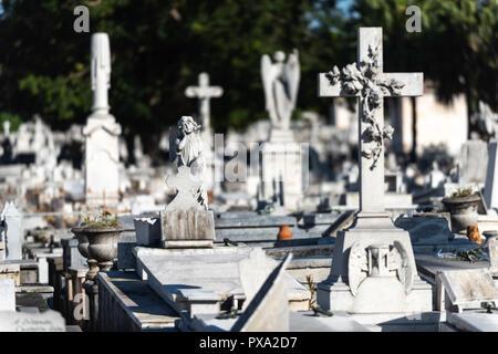 The cemetery Cristóbal Colón in Havana Cuba. - Stock Photo