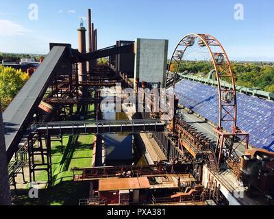 Zollverein Coal Mine Industrial Complex in Essen, Germany: the kokerei - Stock Photo