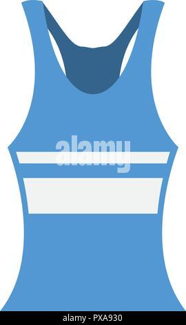 female tennis uniform shirt vector illustration design - Stock Photo