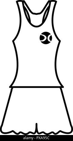 female tennis uniform clothes vector illustration design - Stock Photo