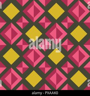 Vector seamless colorful decorative abstract tile background pattern. Traditional tile - Stock Photo