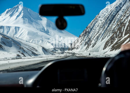 mountain road in the Caucasian mountains - Stock Photo