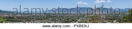 Panoramic view of Cairns, Australia,  taken from the lookout on Lake Morris Road - Stock Photo