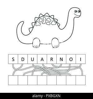 Funny Little Dinosaur Black Outline Children S Coloring